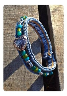 Recycled Denim Bracelet Eco friendly denim with by TwoSisters2Sis, $3.95