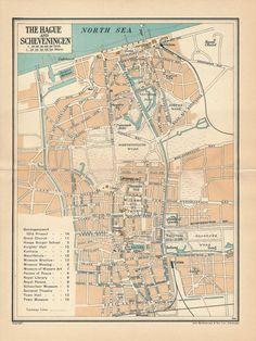 1953 the hague city plan netherlands street map publicscrutiny Images
