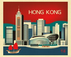 Hong Kong China Skyline Traveler's Destination by loosepetals