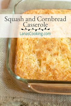 Squash and Cornbread Casserole Yellow summer squash combine with convenient cornbread mix, sour cream, and onion for a side-dish casserole to accompany your late summer meals. Yellow Squash Recipes, Summer Squash Recipes, Summer Recipes, Great Recipes, Favorite Recipes, Veggie Side Dishes, Vegetable Dishes, Side Dish Recipes, Vegetable Recipes