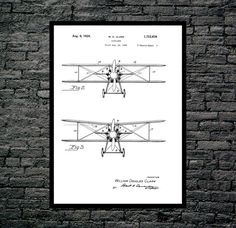 Airplane Print, Airplane Poster, Airplane Patent, Airplane Wall Decor, Aviation Poster, Aviation Print, Aviation Wall Art, Aviation Art by STANLEYprintHOUSE  1.00 USD  We use only top quality archival inks and heavyweight matte fine art papers and high end printers to produce a stunning quality print that's made to last.  Any of these posters will make a great affordable gift, or tie any room together.  Please choose between different sizes and col ..  https://www.etsy.com/ca/listi..