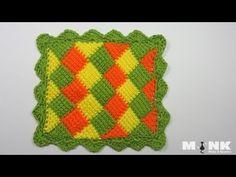 Entrelac Babydecke / Diamantmuster Teil 2 - YouTube