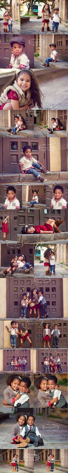 Aww.......such cute kids! Family Photo Session Ideas | Props | Prop | Child Photography | Clothing Inspiration| Fashion | Pose Idea | Poses | Siblings | Cousins