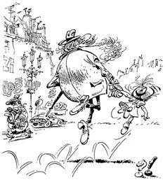 Franquin - le grand-père et da petite fille