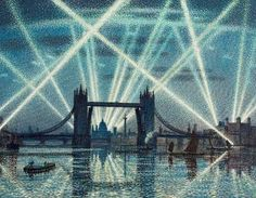Tower Bridge, London: A War-Time Nocturne by Claude Francis Barry (1883-1970 )