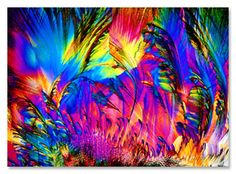vitamin C, crystalline structure psychedelic. Wow, who knew! Fractal Art, Fractals, Microscopic Photography, Micro Photography, Microscopic Images, Macro And Micro, Extreme Close Up, Things Under A Microscope, Patterns In Nature
