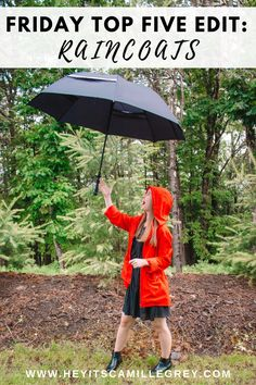 Friday Top Five Edit: Raincoats | Hey Its Camille Grey #raincoats #weeklyfavorites #summer #umbrellas