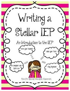 All the Information you need to write a Federally Compliant and Individualized IEP for your Special Education Students!  18 Pages INCLUDES:  What is an IEP? Progress Monitoring Information Data Tracking INformation Present Levels Information Writing IEP Goals INformation Accommodations Information Modifications Information Service Time Information Prior Written Notice Information Additional Information Procedural Safeguards Information. Repinned by SOS Inc. Resources pinterest.com/sostherapy/.