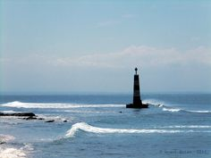 The beacon at Cape Recife, Port Elizabeth, South Africa