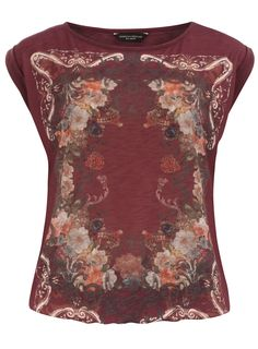 Oxblood bubble scarf tee from Dorothy Perkins