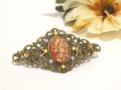 Antique Brass Layered Medium Filigree Floral by boutiquelibertina, $9.00
