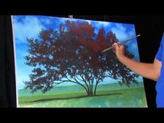 ▶ Time Lapse Acrylic Landscape Painting by Tim Gagnon Standing In Sun Covered Fields - YouTube