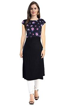 Women's Black Printed Polyester Kurti - http://www.zazva.com/shop/women/womens-black-printed-polyester-kurti/ Fabric:- Polyster Style:- Evening Wear & Casual Wear Wash Care : Dry clean or hand wash in cold water.