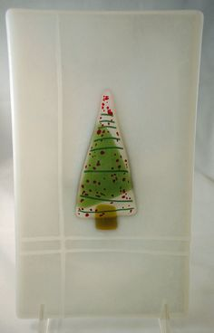 5.25 x 9 inch Christmas dish by GibsonGlassworks on Etsy, $25.00