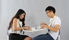 napkin portable dining table for two