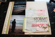 Stormy New Zealand seas  (Shimelle Laine) Lovely composition, colours & layering. #12x12