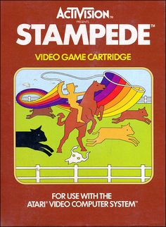 Activision Atari 2600 video game box cover - Stampede