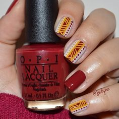 """""""Super quick & easy mani!!  What do you guys think? Do you like them? I think these look cute """""""