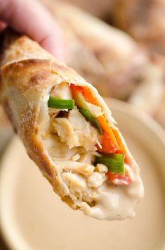 Air Fryer Thai Peanut Chicken Eggrolls