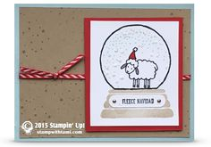 CARD: Fleece Navidad Sheep in a Snow Globe | Stampin Up Demonstrator - Tami White - Stamp With Tami Crafting and Card-Making Stampin Up blog