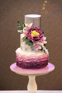 Silver and Lilac!   by Signature Cake By Shweta