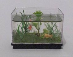 Miniature Aquarium - Greenleaf Dollhouse Kits - April 2008 Newsletter