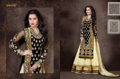 Khwaab Volume 3 Shraddha Kapoor Black & Gold Long Anarkali