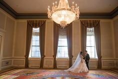 Fairmont Hotel, Large Chandeliers, Gold Vases, Wedding Dinner, Traditional Decor, Muted Colors, Valance Curtains, Vancouver, Engagement