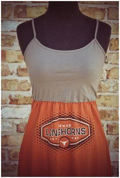 Texas T-shirt Gameday Dress Size Medium 2-8 $39.50