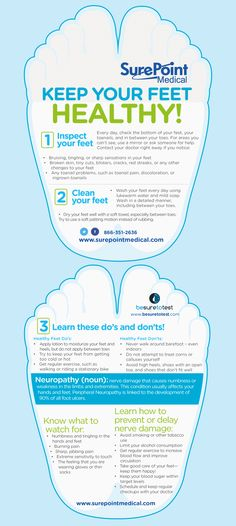 Do's and don'ts of foot care