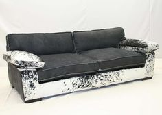 Old Hickory Tannery Black Saddle Leather Sofa Western Sofas And Loveseats    Contemporary Western Style In