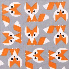 grey Cloud 9 fox animal organic fabric Picture Pie