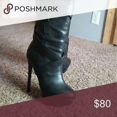 Victoria's Secret Colin Stuart High Heel Boots. Bought few years ago for 145$ , worn once for occasion never got a chance to wear it again. In a great condition not a scratch. OFFERS ARE WELCOME ;) Colin Stuart Shoes Heeled Boots