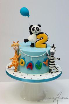 Panda and friends cake - Cake by Soraia Amorim