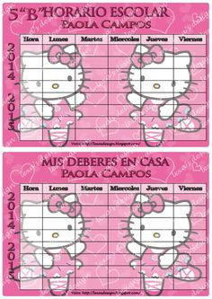 Kit Etiquetas Escolares, Imprimibles Digitales Hello Kitty - BsF ...