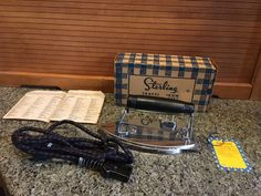 Vintage STERLING TRAVEL IRON - Made in USA - w/Original Box - WORKS #Sterling