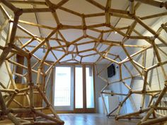 Darc Space Gallery It's build with paper tubes! Roof Architecture, Beautiful Architecture, Ceiling Design, Wall Design, Architecture Foundation, Linear Art, Sculpture Lessons, Cardboard Tubes, Space Gallery