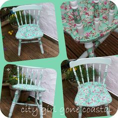City girl gone coastal: Decoupage Chair