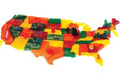 50 States of Jell-O, America, Map it Good with Bompas and Parr Edible Food, Edible Art, Broken Glass Jello, Bompas And Parr, Champagne Jello Shots, Creative Food, Creative People, Medium Art, Pretty Pictures