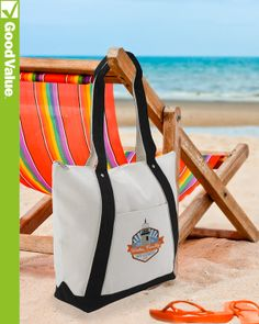 Great tote for a day at the beach, or a day at the mall. The large zippered main compartment provides plenty of storage while the front slip pocket adds additional space.
