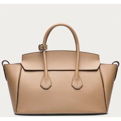 Bally SOMMET MEDIUM Women's leather tote in Beige (2,350 CAD) ❤ liked on Polyvore