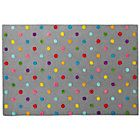 Kids' Rugs: Kids' Multi Color Dot Candy Grey Rug | The Land of Nod