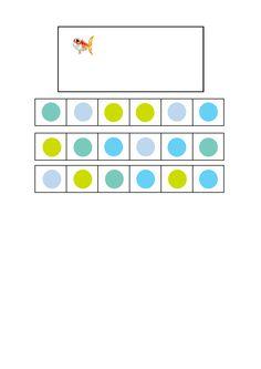 Tiles for the fish visual perception game. Find the belonging tiles on Autismespektrum on Pinterest. By Autismespektrum