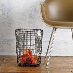 Design Ideas | Cabo Hand Woven Wire Waste Paper Bin | homeArama Ltd