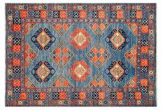 "6'1""x8'9"" Ziegler Oriental Rug, Royal"