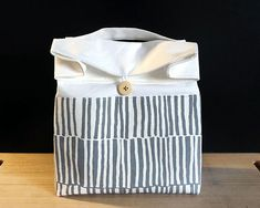 Lunch bag for adult Zero waste gift Reusable lunch bag for