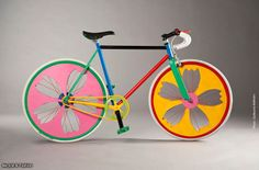 Colorful wheels that automatically brightens the day of anyone you gracefully pass by...
