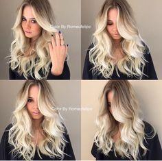 Light blonde balayage.