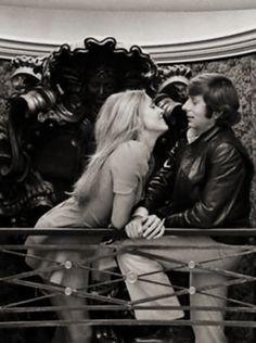 Sharon Tate and Roman Polanski in 1968