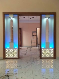 Awesome Custom Saltwater Aquarium in Home Kitchen By Aqua Creations. Room Partition Wall, Glass Partition Designs, Living Room Partition Design, Pooja Room Door Design, Living Room Sofa Design, Bedroom Closet Design, Bedroom Furniture Design, Partition Walls, Furniture Projects